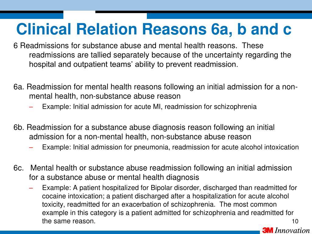 Clinical Relation Reasons 6a, b and c
