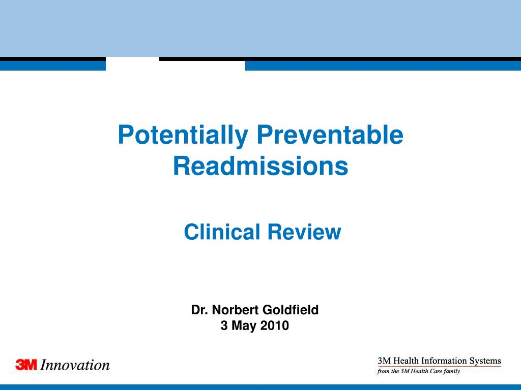 Potentially Preventable Readmissions