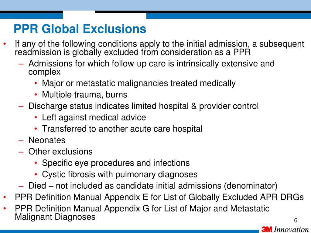 PPR Global Exclusions