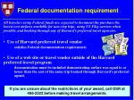 federal documentation requirement