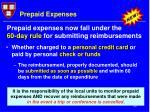 prepaid expenses