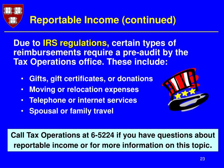 Reportable Income (continued)