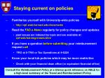 staying current on policies