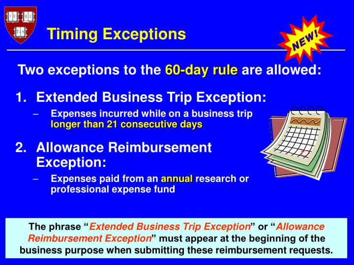 Timing Exceptions