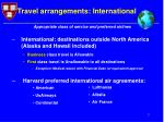 travel arrangements international