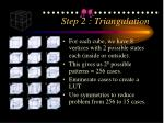 step 2 triangulation