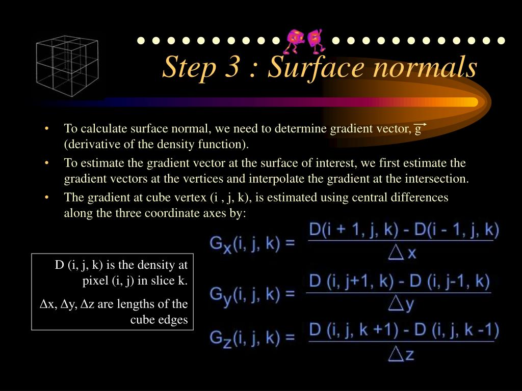 Step 3 : Surface normals