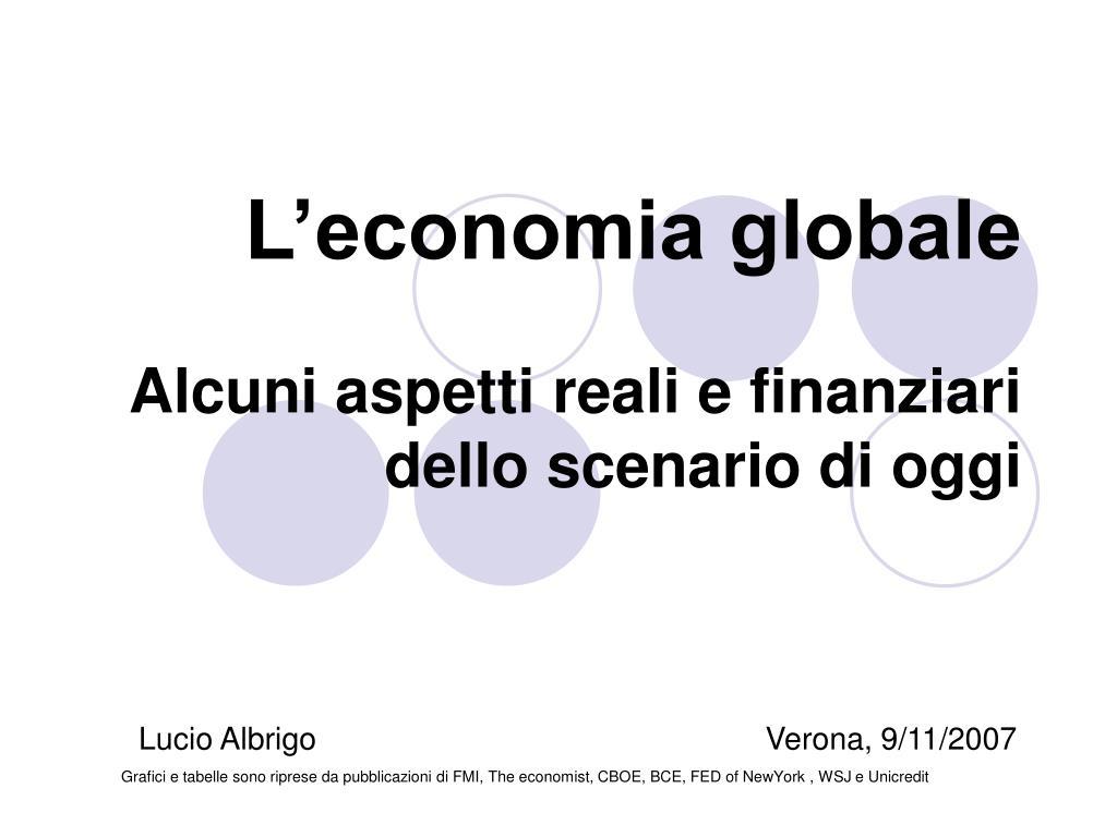 L'economia globale