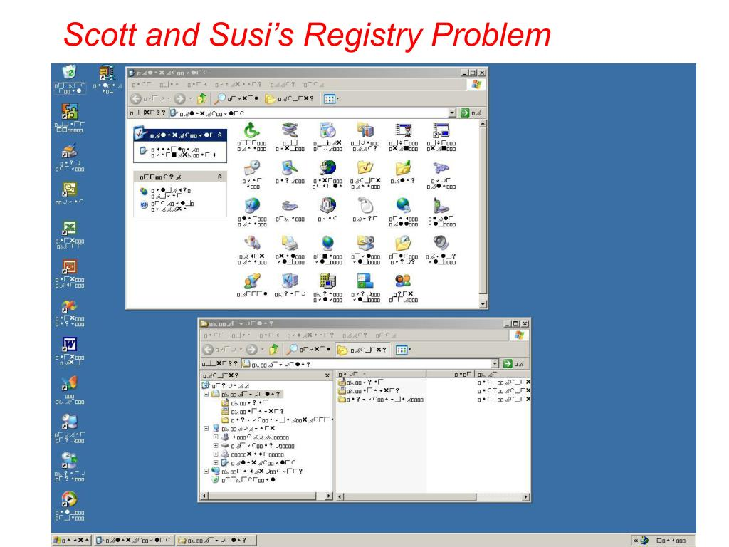 Scott and Susi's Registry Problem