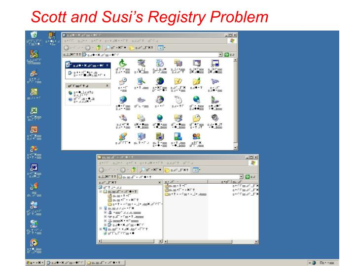 Scott and susi s registry problem