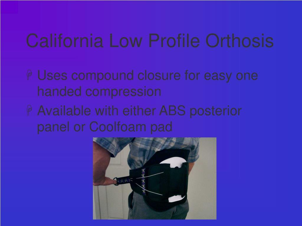 California Low Profile Orthosis
