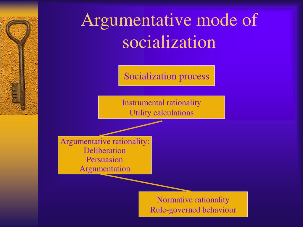 Argumentative mode of socialization