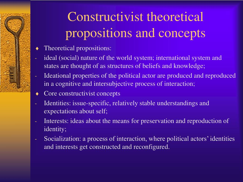 Constructivist theoretical propositions and concepts