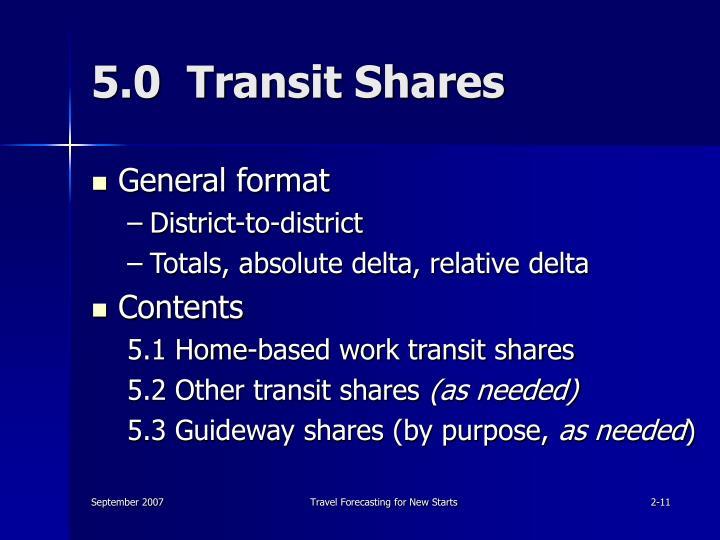 5.0  Transit Shares