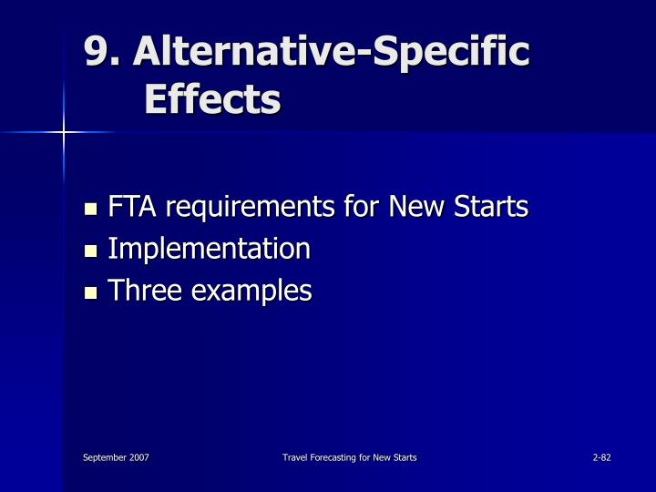 9. Alternative-Specific Effects