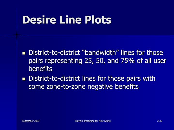 Desire Line Plots