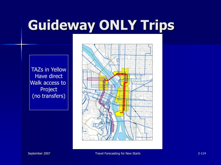 Guideway ONLY Trips