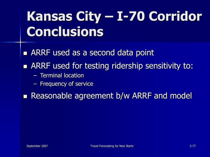 Kansas City – I-70 Corridor