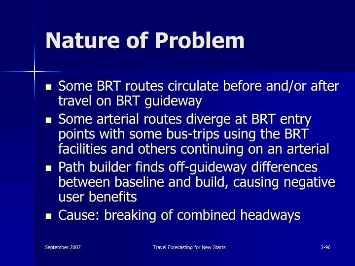 Nature of Problem