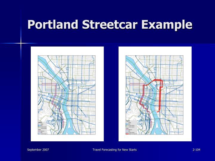 Portland Streetcar Example