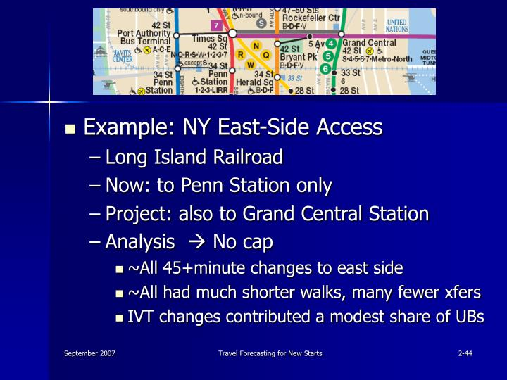 Example: NY East-Side Access