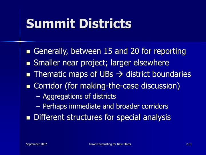 Summit Districts