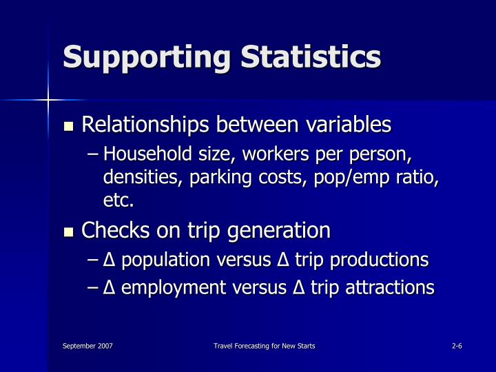 Supporting Statistics
