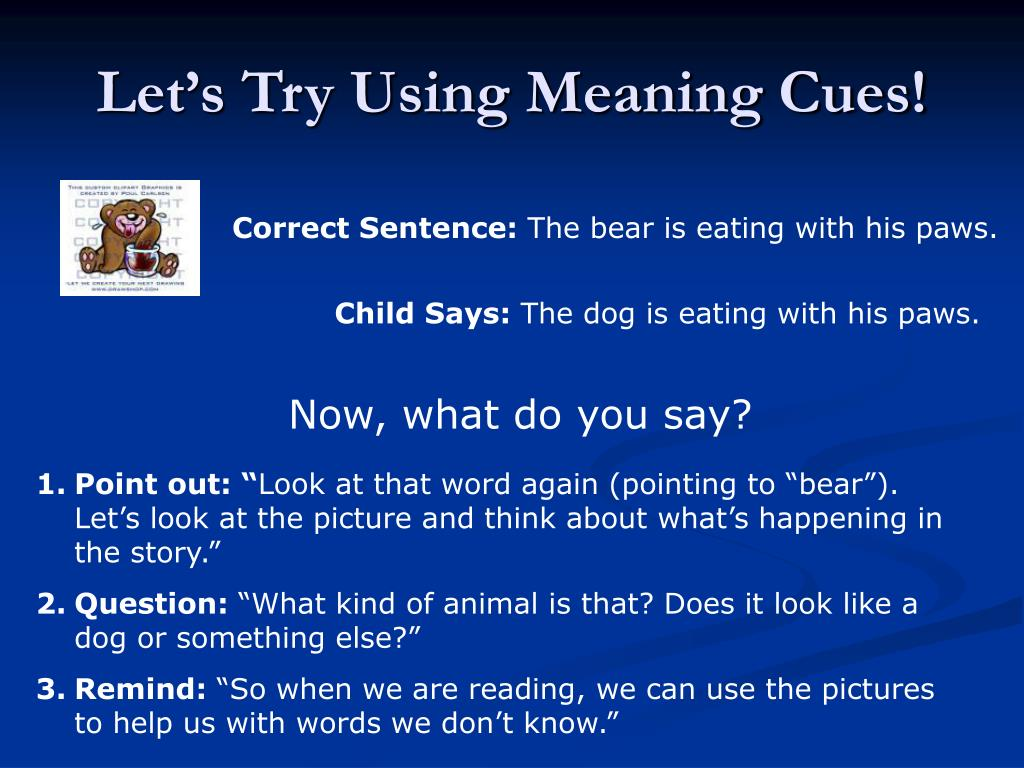 Let's Try Using Meaning Cues!