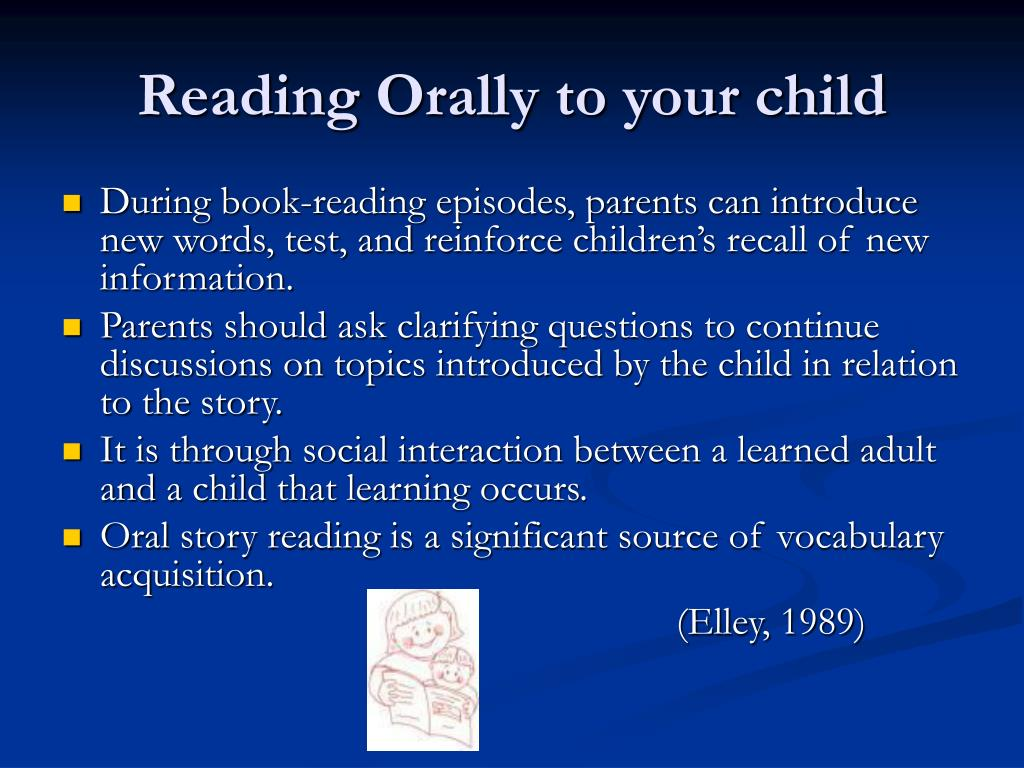 Reading Orally to your child