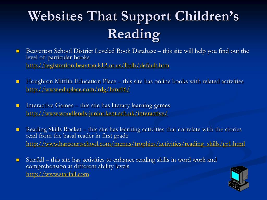 Websites That Support Children's Reading
