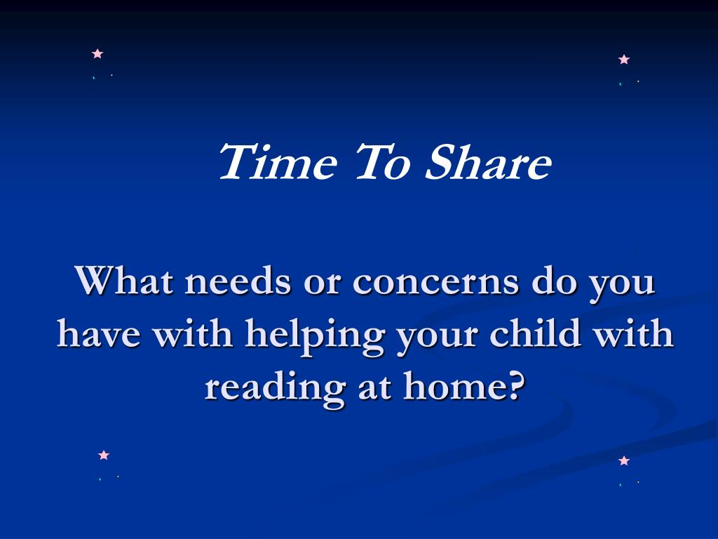 What needs or concerns do you have with helping your child with reading at home?