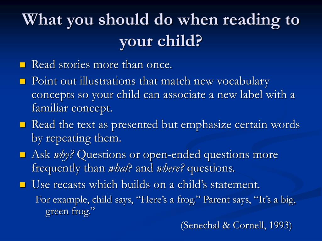 What you should do when reading to your child?