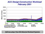 acc design construction workload february 2001