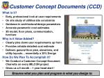 customer concept documents ccd