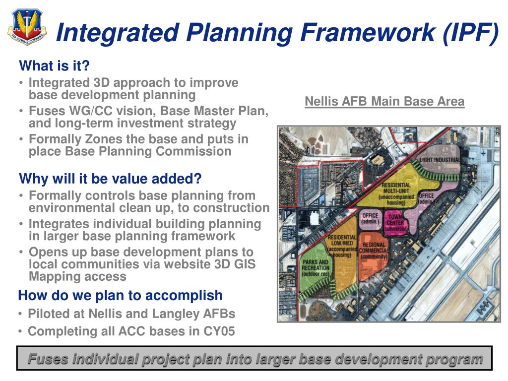 Integrated Planning Framework (IPF)