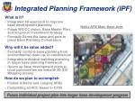 integrated planning framework ipf