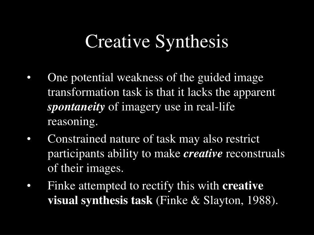 Creative Synthesis