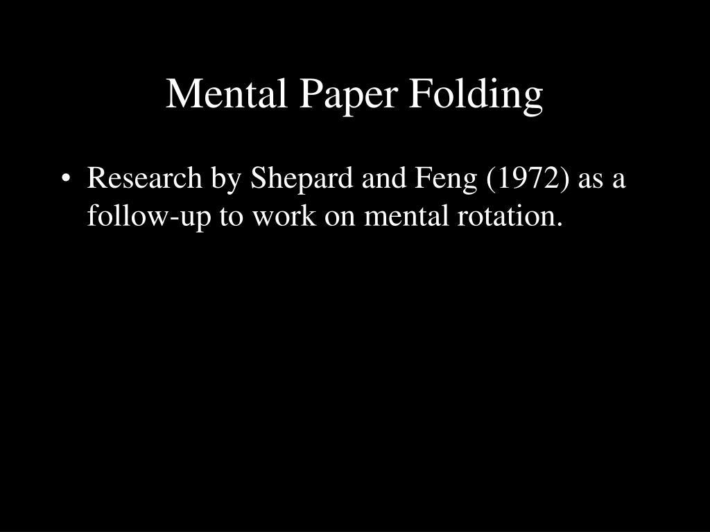 Mental Paper Folding