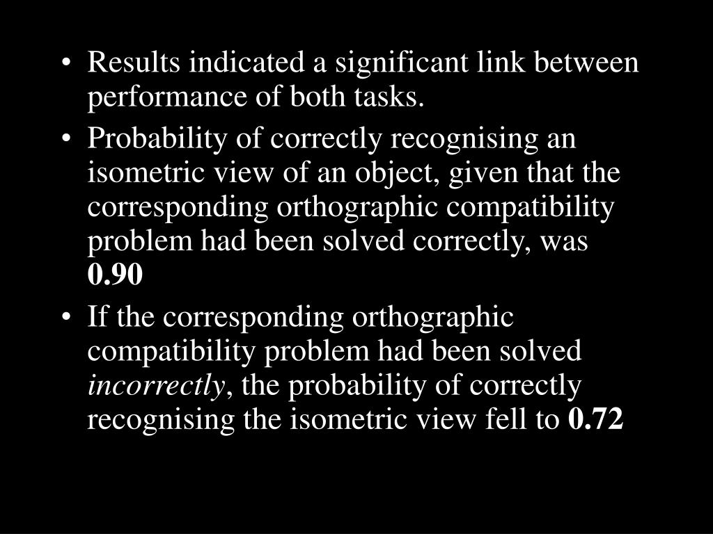 Results indicated a significant link between performance of both tasks.