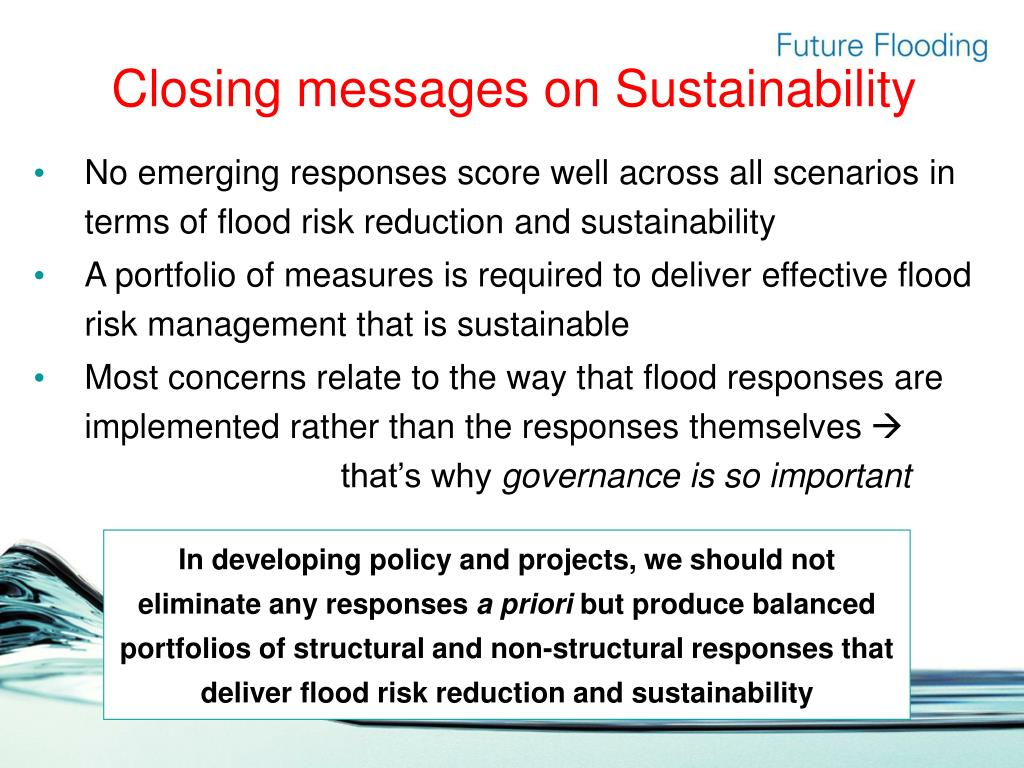 Closing messages on Sustainability