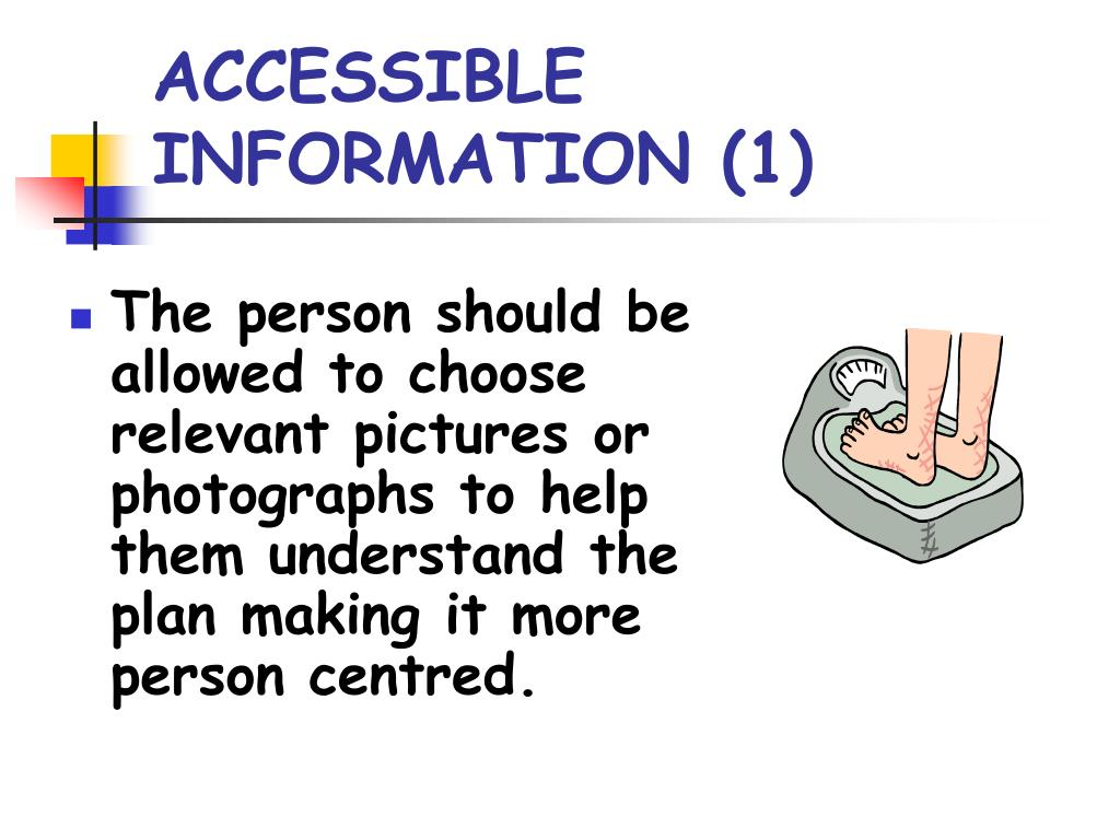 ACCESSIBLE INFORMATION (1)