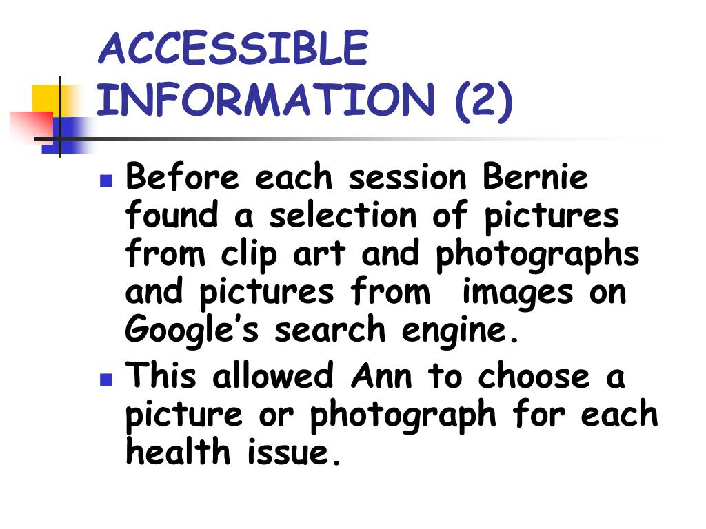 ACCESSIBLE INFORMATION (2)