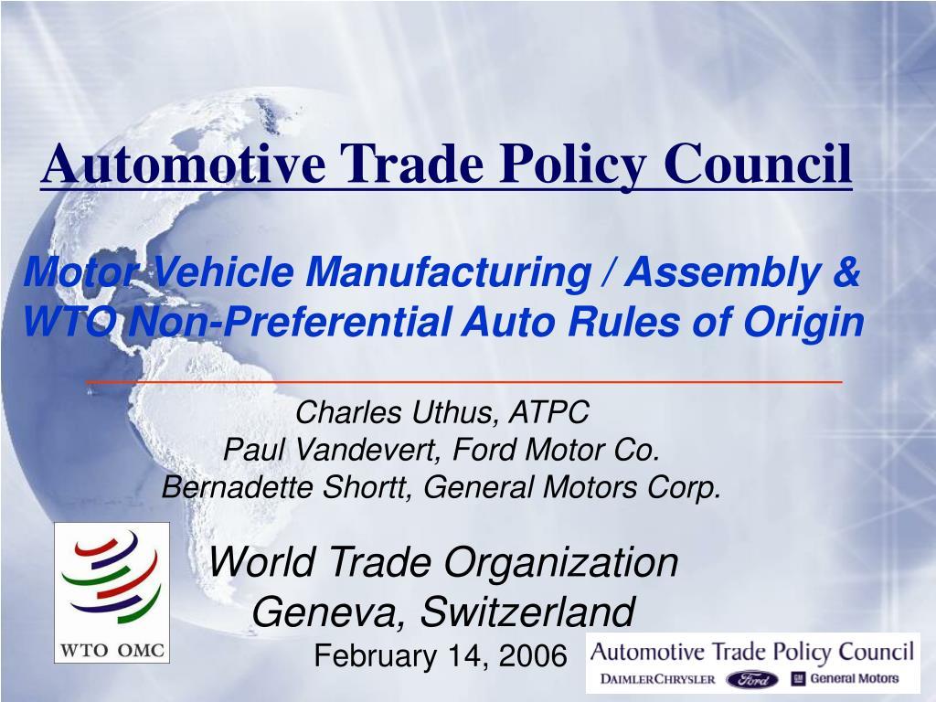 Automotive Trade Policy Council