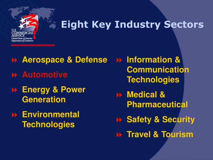 Eight Key Industry Sectors
