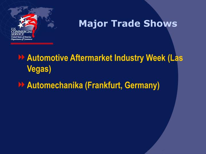 Major Trade Shows