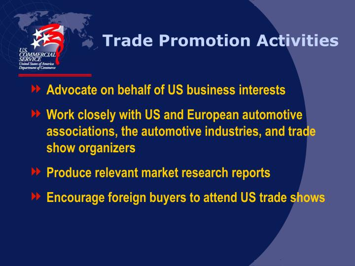 Trade Promotion Activities