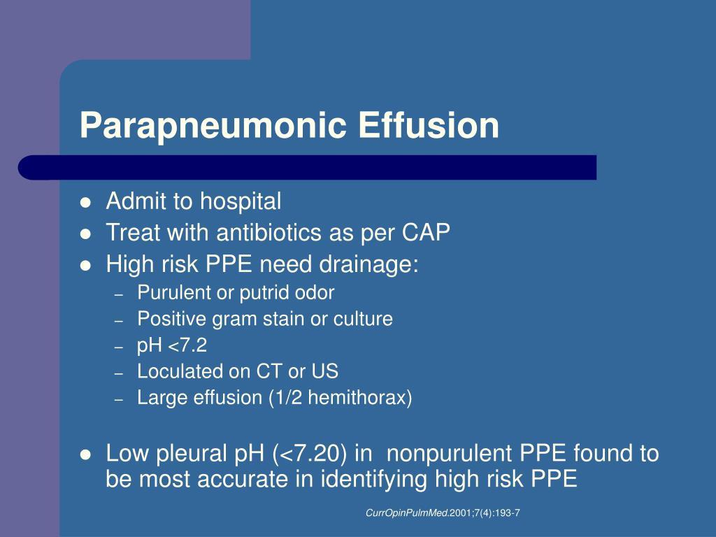 Parapneumonic Effusion