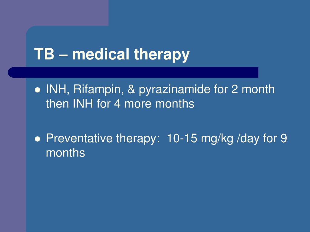 TB – medical therapy