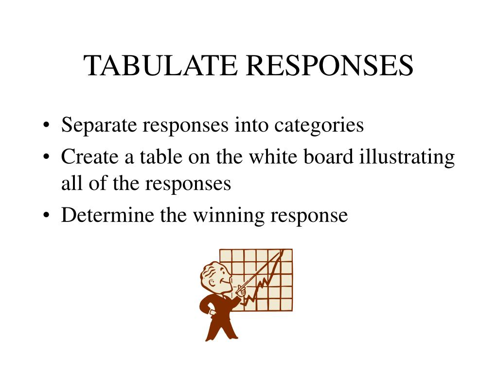 TABULATE RESPONSES
