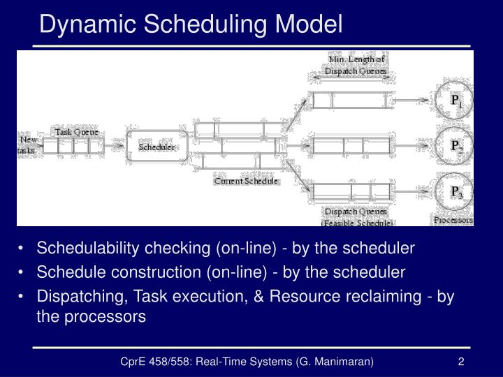 Dynamic scheduling model